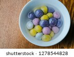 coloured dumplings in bowls | Shutterstock . vector #1278544828