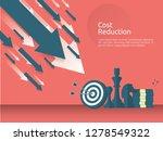 business finance crisis concept.... | Shutterstock .eps vector #1278549322