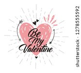 valentine day doodle hearts... | Shutterstock .eps vector #1278555592