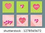 valentine's day cards set. flat ... | Shutterstock .eps vector #1278565672