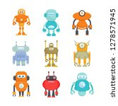 robot character icons set | Shutterstock .eps vector #1278571945