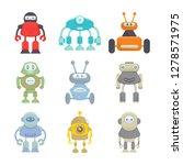 robot character icons set | Shutterstock .eps vector #1278571975