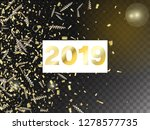 2019 tinsel confetti isolated ... | Shutterstock .eps vector #1278577735