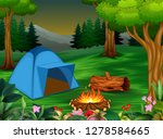 forest camping concept with... | Shutterstock . vector #1278584665