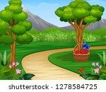 cartoon of beautiful garden... | Shutterstock .eps vector #1278584725