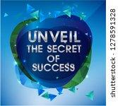blue modern template with... | Shutterstock .eps vector #1278591328