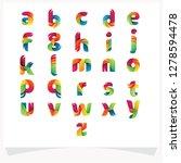 letter logo set colorful... | Shutterstock .eps vector #1278594478
