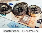 golden  coins of crypto... | Shutterstock . vector #1278598372