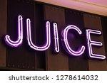 coffee neon word | Shutterstock . vector #1278614032