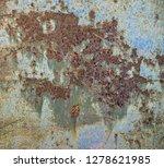 damaged metal surface as... | Shutterstock . vector #1278621985