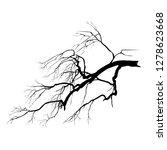 silhouette of an oak branch...   Shutterstock . vector #1278623668