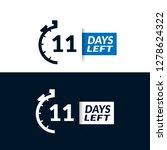 11 days left sign   emblem ...