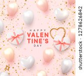 valentines day banner.... | Shutterstock .eps vector #1278626842