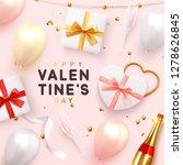 valentines day banner.... | Shutterstock .eps vector #1278626845