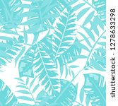 tropical seamless pattern with... | Shutterstock .eps vector #1278633298