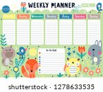 kids weekly planner and to do... | Shutterstock .eps vector #1278633535