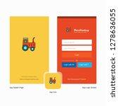 company tractor  splash screen... | Shutterstock .eps vector #1278636055