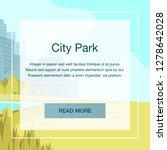 view panorama city park center... | Shutterstock .eps vector #1278642028