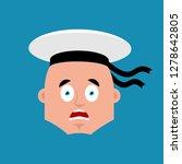 sailor scared omg emoji...   Shutterstock .eps vector #1278642805