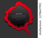 red and black cloud speech...   Shutterstock .eps vector #1278647992