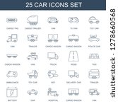 icons. trendy 25 car icons.... | Shutterstock .eps vector #1278660568