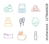 therapy icons. trendy 9 therapy ... | Shutterstock .eps vector #1278660628