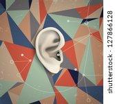 futuristic grunge background... | Shutterstock .eps vector #127866128