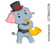 the big grey elephant uses the... | Shutterstock .eps vector #1278665158