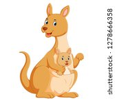 the cute kangaroo playing with... | Shutterstock .eps vector #1278666358