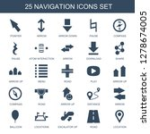 navigation icons. trendy 25... | Shutterstock .eps vector #1278674005