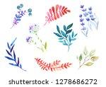 watercolor stylized... | Shutterstock . vector #1278686272