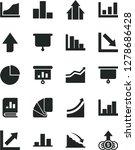 solid black vector icon set  ... | Shutterstock .eps vector #1278686428