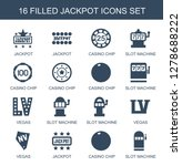16 jackpot icons. trendy... | Shutterstock .eps vector #1278688222