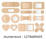 graphic set of band aids in... | Shutterstock .eps vector #1278689605