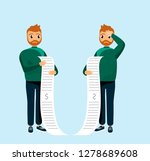 cartoon man being unhappy and... | Shutterstock .eps vector #1278689608