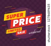 limited sale tag with super... | Shutterstock .eps vector #1278689635
