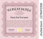 red certired certificate... | Shutterstock .eps vector #1278692308