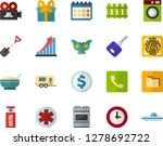 color flat icon set   butterfly ... | Shutterstock .eps vector #1278692722