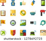 color flat icon set  ... | Shutterstock .eps vector #1278692725