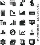 solid black vector icon set  ... | Shutterstock .eps vector #1278697768