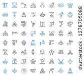 machinery icons set. collection ... | Shutterstock .eps vector #1278705088