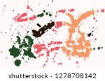 hand drawn set of colorful ink... | Shutterstock .eps vector #1278708142
