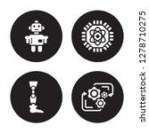 4 vector icon set   robot ...   Shutterstock .eps vector #1278710275