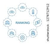 ranking icons. trendy 8 ranking ... | Shutterstock .eps vector #1278712912