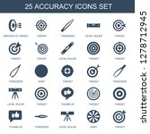 25 accuracy icons. trendy... | Shutterstock .eps vector #1278712945