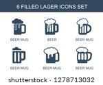 6 lager icons. trendy lager...   Shutterstock .eps vector #1278713032