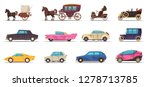 set of icons old and modern... | Shutterstock .eps vector #1278713785