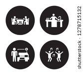 4 vector icon set   dominoes ... | Shutterstock .eps vector #1278715132