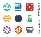 chance icons. trendy 9 chance... | Shutterstock .eps vector #1278716635