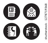 4 vector icon set   voice... | Shutterstock .eps vector #1278719368